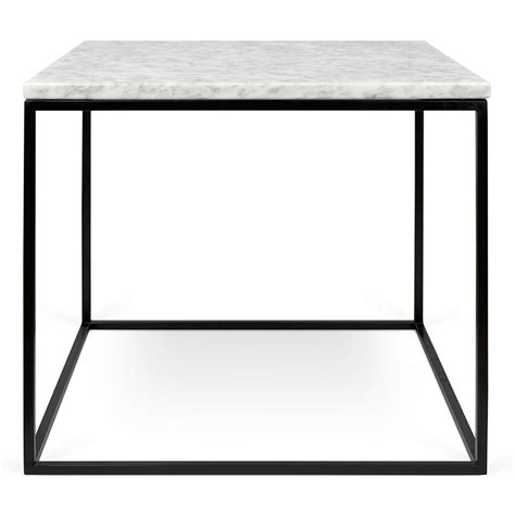 gleam white black marble modern side table eurway