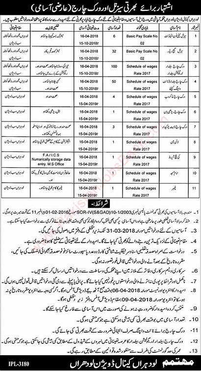 Jobs Lodhran Irrigation Readers Canal Gauge Division