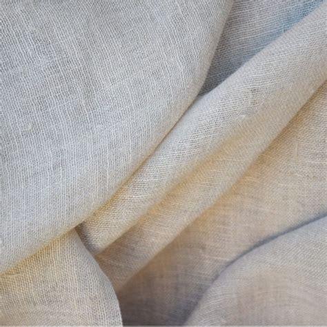 gaze de chanvre toile 224 beurre voilage rideaux