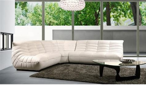 Modern Comfortable Leather Sectional Sofa