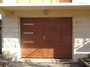 Porte De Garage Motorisée Avec Portillon : installation porte de garage sectionnelle motoris e avec portillon ~ Dode.kayakingforconservation.com Idées de Décoration