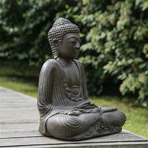 Statue De Bouddha : statue bouddha assis position offrande brun 42 cm ~ Teatrodelosmanantiales.com Idées de Décoration