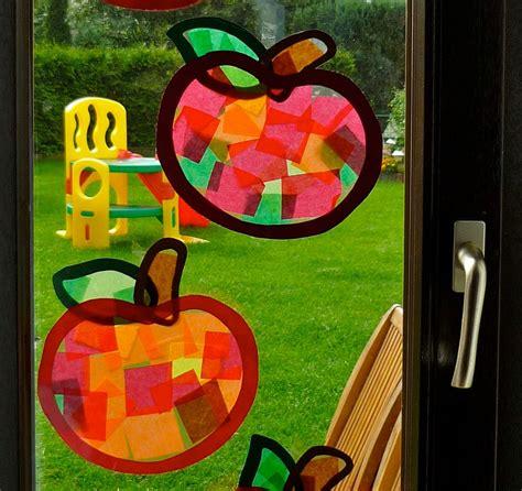 Herbstdeko Fenster Mit Kindern by Tonpapier Transparentpapier Selbstklebende B 252 Cherfolie