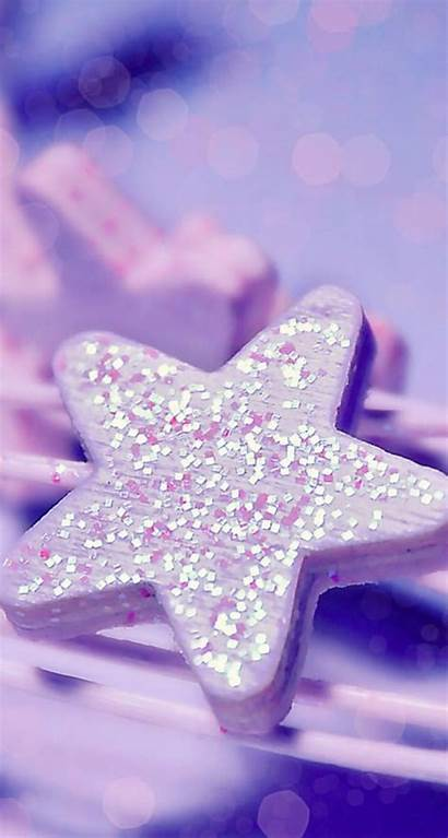 Girly Iphone Wallpapers Background Purple Glitter Star