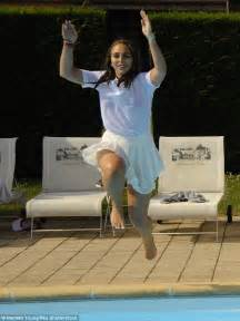 Chloe Green frolics on the grounds of a French castle ...