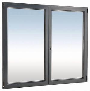 Fenetre Aluminium Gris Anthracite : fen tre en aluminium gris anthracite droite l 100 x h 75 ~ Melissatoandfro.com Idées de Décoration