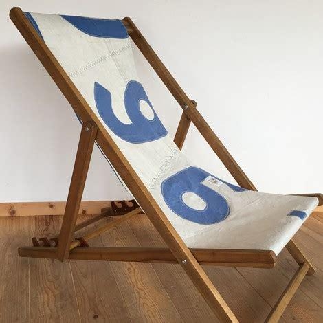 chaise de bateau pliante transat chaise longue pliante bois en voile de bateau