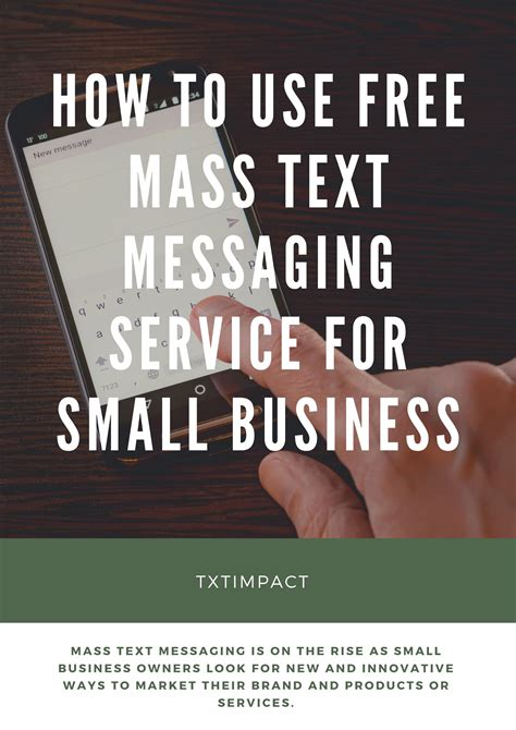 The message may be as simple as today, many mass text apps offer various features as opposed to being dedicated messaging software. How To Use Free Mass Text Messaging Service For Small Business