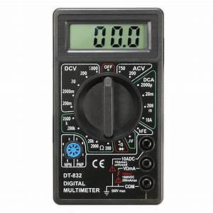 Dt832 Digital Lcd Multimeter Ohm Voltage Ampere Meter
