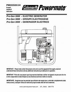 Download Free Coleman Powermate Pro Gen 5000 Owners Manual