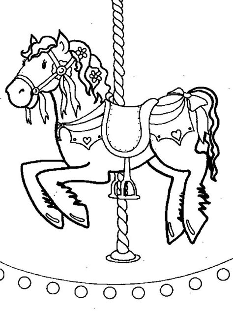 flying carousel horse coloring pages  place  color