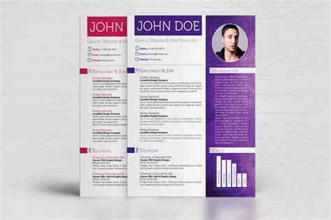 resume template colorful free 4 colorful textured print resumes resume templates on creative market