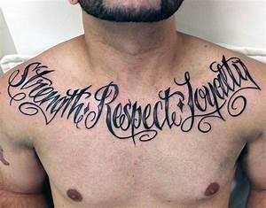 60 Stärke Tattoos für Männer - Masculine Wort Design-Ideen ...