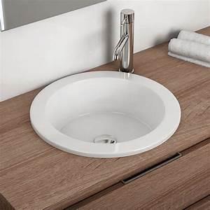 Vasque à Encastrer : vasque encastrer par dessus ronde 42 5 cm cali ~ Edinachiropracticcenter.com Idées de Décoration