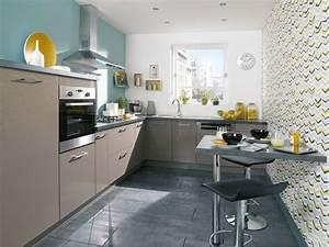 Tapisserie Pour Cuisine : am nager petite cuisine 12 id es relooking c t maison ~ Premium-room.com Idées de Décoration