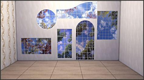 fake windows wall decals  tatschus sims cc sims