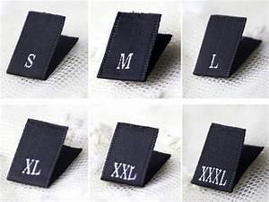 100 clothing size tabs satin size labels satin woven size With dress size labels