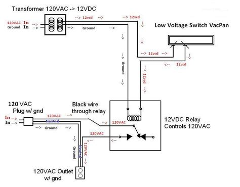Low Voltage Wiring Diagram by Transformer Relay Low Voltage Electrical Diy