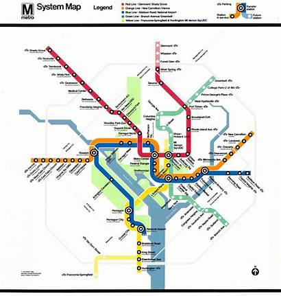 Metro Dc Map System Maps Subway Rail