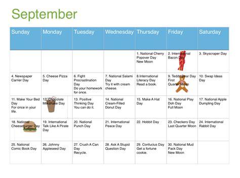 september calendar kirkwood call