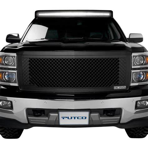 putco chevy silverado   pc boss design black cnc