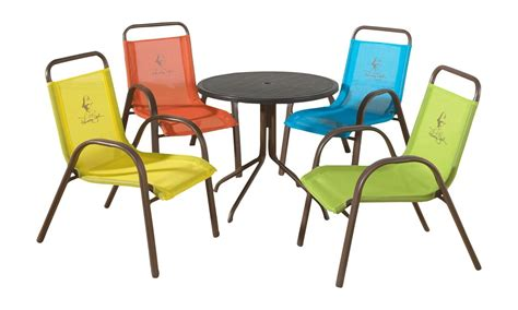 Kids Table And Chairs Patio Outdoor Fun Game Set 5 Piece