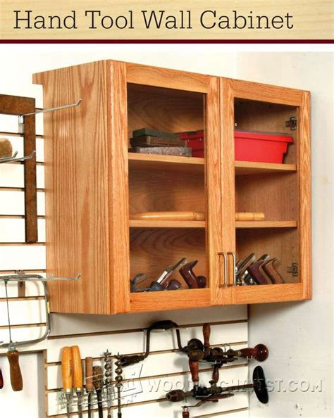 hand tool wall cabinet plans woodarchivist