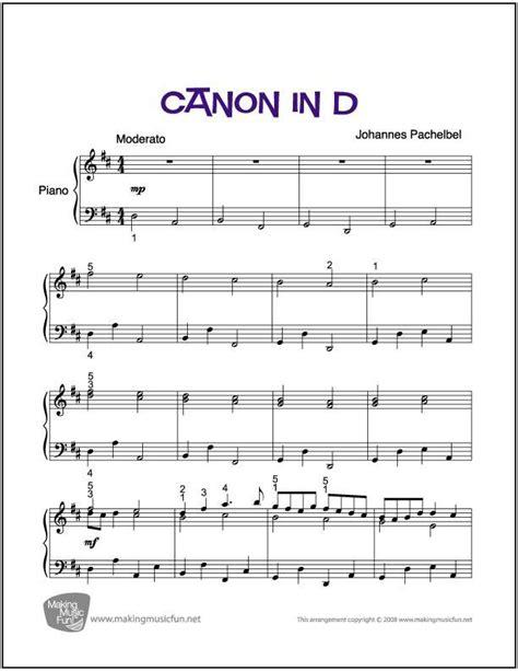 3.5 out of 5 stars 7 ratings. Canon in D | Easy/Intermediate Piano Sheet Music (Digital Print) - http://makingmusicfun.net/htm ...