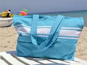 Fouta De Plage : grand sac de plage bleu cara bes en fouta ~ Teatrodelosmanantiales.com Idées de Décoration
