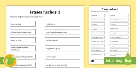 * New * Ficha De Actividad Relaciona Frases Hechas 1