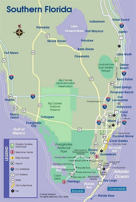 south florida map      love