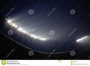 Stadium floodlights at night time beijing china stock