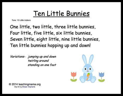 5 bunny chants for preschoolers 576 | 10LittleBunnies 1024x800