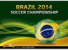 Brazil 2014 Soccer Championship Background Free Vector