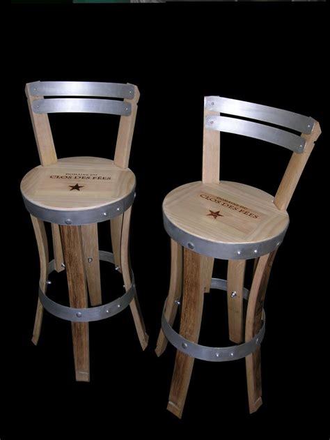 chaise pour assis chaises de bar r 233 alis 233 es en douelles de tonneaux teintes et hauteur d assise personnalisable