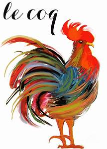 Le Coq Art Nouveau Rooster Painting by Mindy Sommers