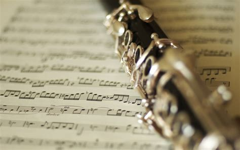 Clarinet And Music Notes Wallpapers - 1440x900 - 245716