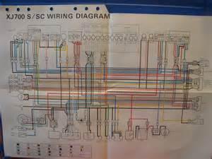 Yamaha Factory Wiring Diagram 1986 Xj700 S Xj700 Sc