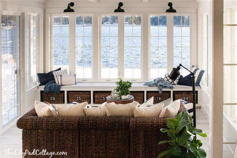 Create Blue White Sunroom by Lake House Sunroom It S Done The Lilypad Cottage