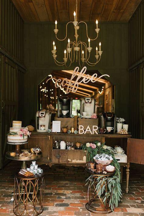 perfect wedding reception coffee bar coffee bar