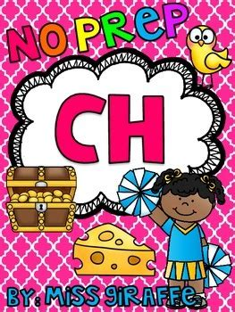 Digraphs Ch Worksheets And Activities {no Prep} By Miss Giraffe