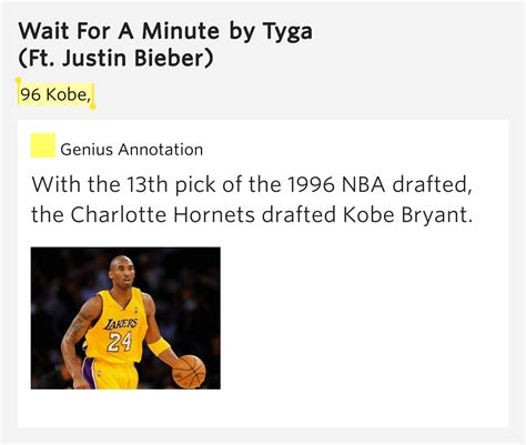 96 Kobe Wait For A Minute By Tyga