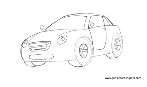 learn   draw  cartoon car easy junior car designer