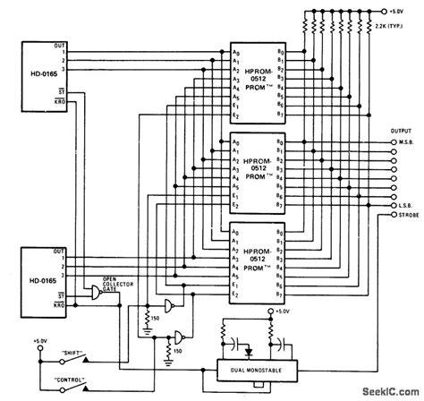 Universal Keyboard Encoder Basic Circuit