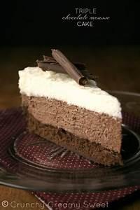 chocolate mousse cake recipe card crunchy