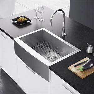exclusive heritage 30 x 21 single bowl stainless steel With apron vs farmhouse sink