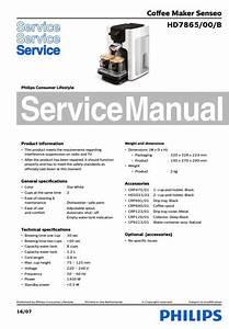 Philips Senseo Quadrante Hd7865 00 B Service Manual Free