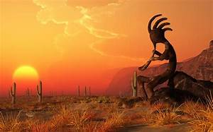 Kokopelli Sunset Digital Art by Daniel Eskridge