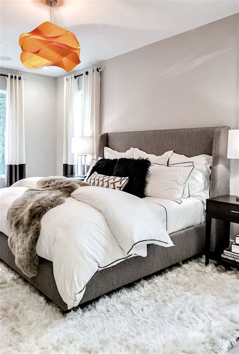 best 25 grey bed ideas on cozy bedroom decor