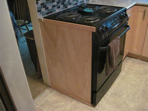 kitchen cabinet side panels need a panel like this since range will be on end of